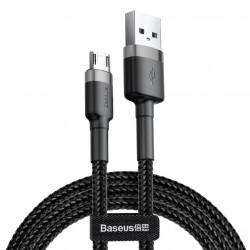 купить Кабель Baseus Micro-USB 2m 1.5A Black (CAMKLF-CG1) Cafule Cable в спб в магазине smartmarket-20