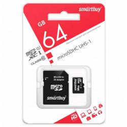 купить Карта памяти SmartBuy MicroSD 64GB Class 10 в спб в магазине smartmarket-20