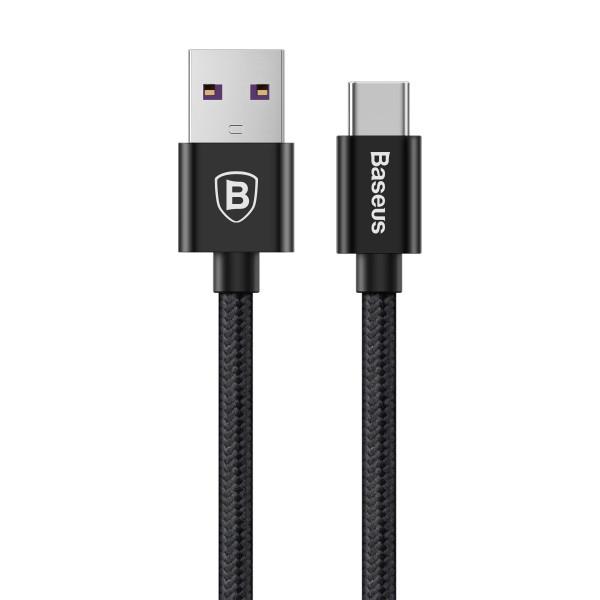 купить Кабель Baseus Type-C 1m 5A Black (CATKC-01) Speed QC Cable For Huawei в спб в магазине smartmarket-01