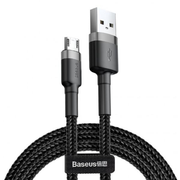 купить Кабель Baseus Micro-USB 2m 1.5A Black (CAMKLF-CG1) Cafule Cable в спб в магазине smartmarket-01