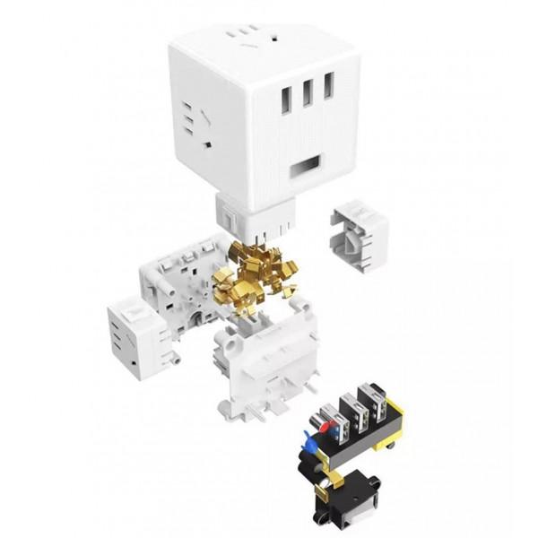 купить Сетевая зарядка Xiaomi Mijia Rubiks Cube Converter Wireless Edition (MJZHQ3-01QM) в спб в магазине smartmarket-01