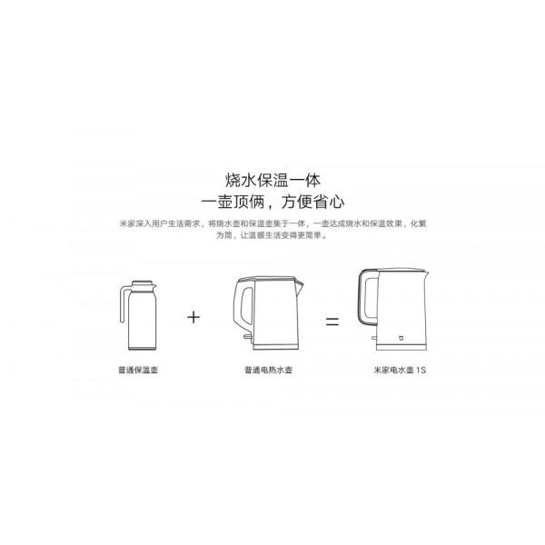 купить Чайник Xiaomi Mi Electric Kettle 1S 1.7L White (MJDSH03YM) CN в спб в магазине smartmarket-01